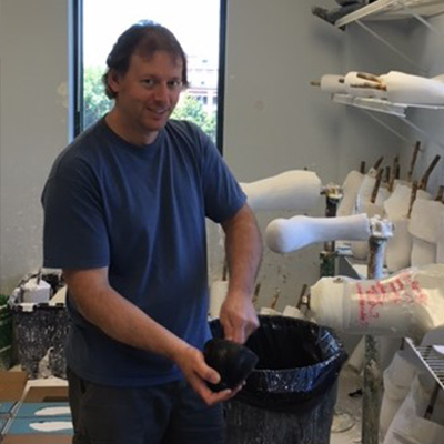 This is a photo of Dave Mee, Orthotic and Prosthetic Technician at O&P Labs.