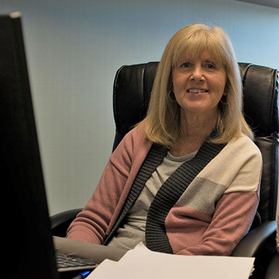 This is a photo of Judy Cordi, Office Manager and Billing Specialist at O&P Labs.